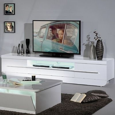 Skylight Floyd 36 High Gloss Tv Cabinet White Unit