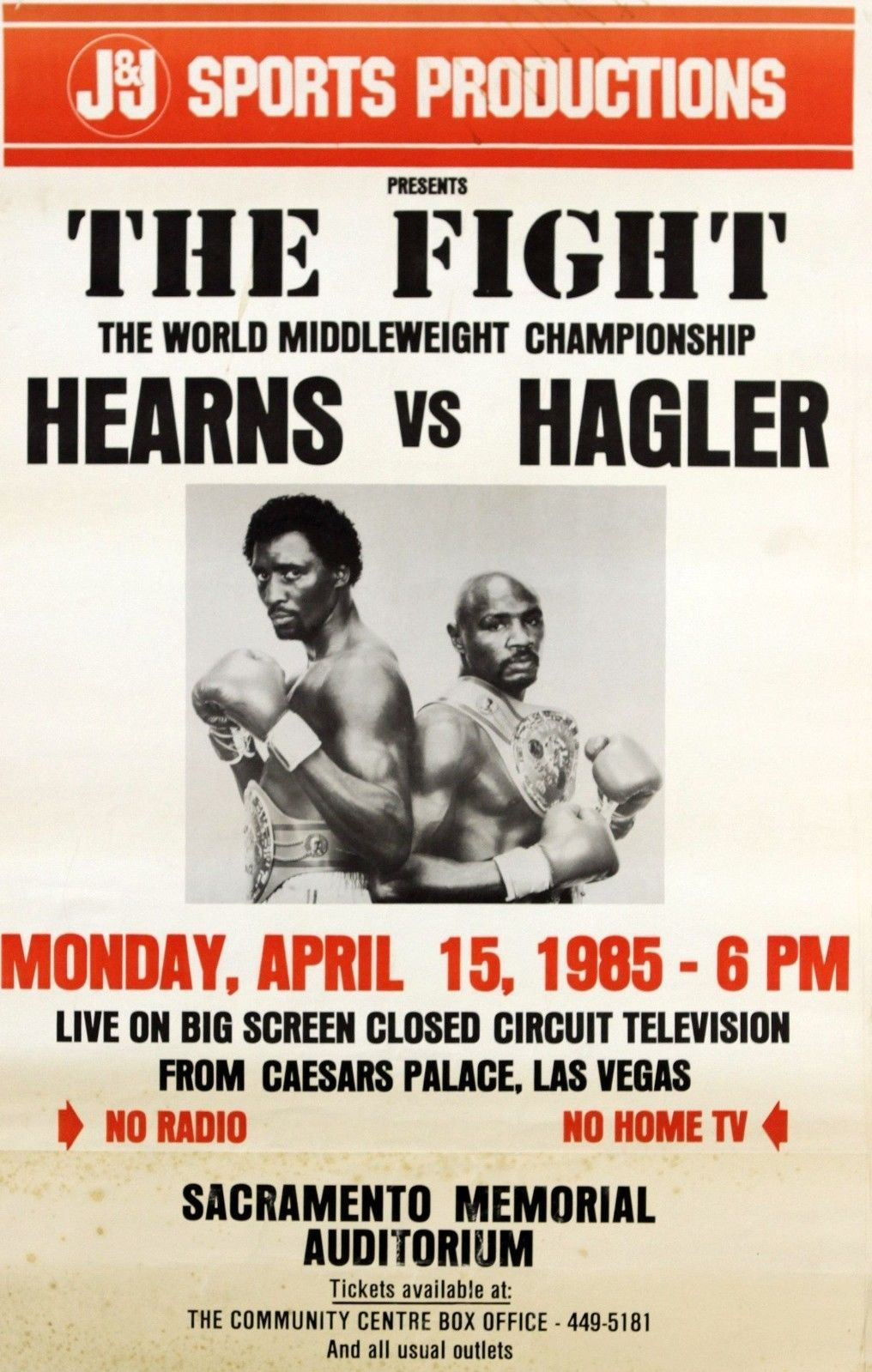 Tommy Hearns Vs Marvin Hagler Boxing Posters Boxing Fight Boxing History