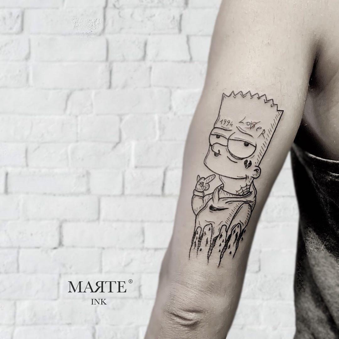 • Lil' Bart •————————————— Using @kwadron needles @polynesianink ————————————— #bart #bartsimpson #simpsons #armtattoo #simpsonstattoo #tattoo #cartoon #iblackwork #blackandwhitetattoo #onlyblackart #ink #inked #dotwork #inkedup #linework #blacktattoo #darkart #darkartists #blackwork #tattooed #darktattoo #tattooartist #cartoontattoo #tattooart #lovetattoo #tattoolife #lovetattoos #love #lineworktattoo #tattooedgirl —————————————