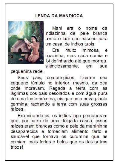 Lenda Da Mandioca Com Imagens Folclore Brasileiro Atividades