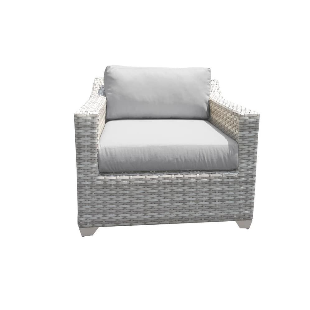 Catamaran outdoor patio wicker arm chair honey grey size single
