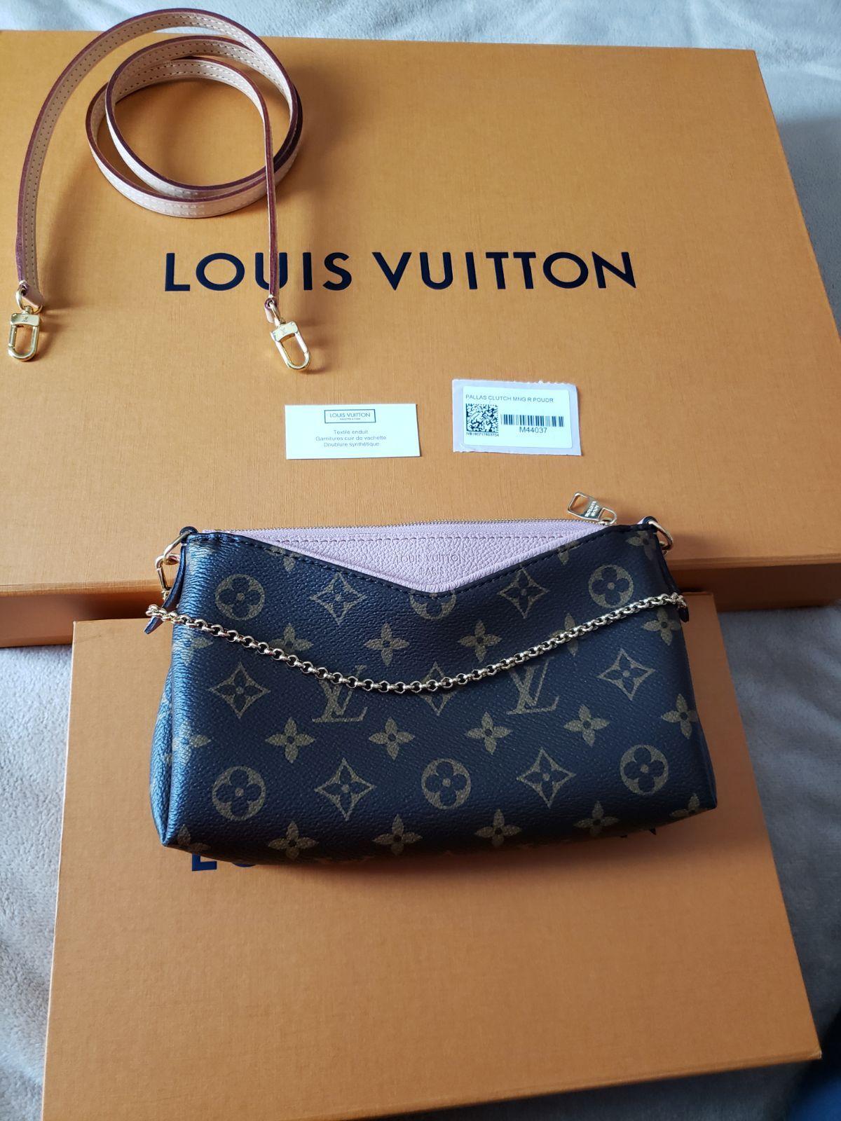 Brand new, never worn Louis Vuitton monogram Pallas clutch