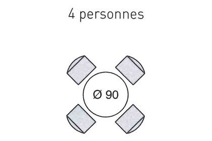Table Ronde 4 Personnes Dimensions