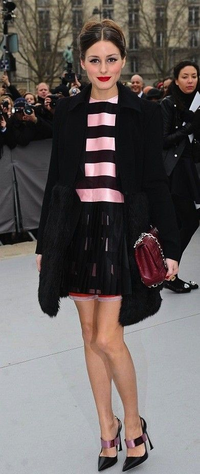 Olivia Palermo   In Dior at Dior, Fashion Week 2013   http://www.oliviapalermo.com/harrods-and-dior-the-luxurious-collaboration/#
