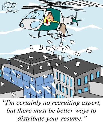 Humor - Cartoon How to Effectively Distribute your BA Resume