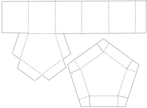 Hexagon Paper Box Pattern - cut on solid lines & fold on dotted ...