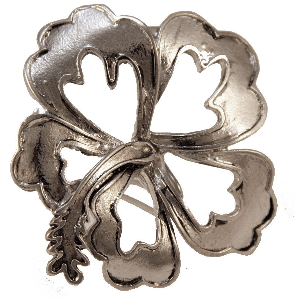 Hair Hook Hibiscus - Silver Ponytail Holder