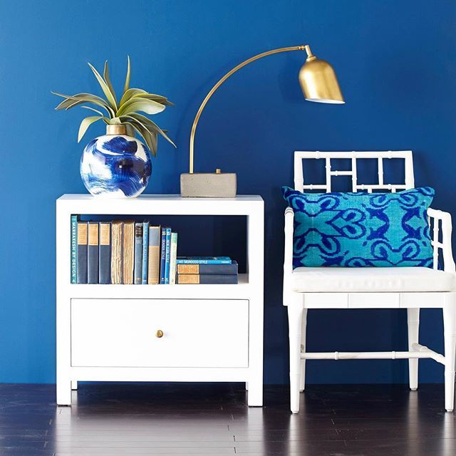 our new modern lacquer side table is a twist on our top