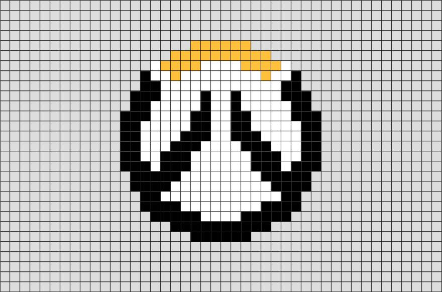 overwatch logo pixel art overwatch pinterest hama jeux vid os et porte cl. Black Bedroom Furniture Sets. Home Design Ideas