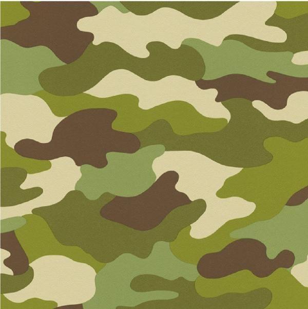 New Luxury Rasch Kids Club Camouflage Army Green Childrens