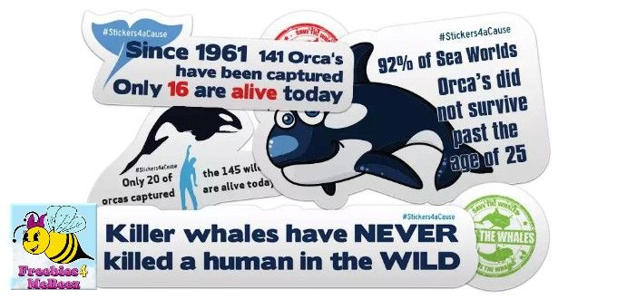 Stop Orcas in Captivity FREE STICKERS