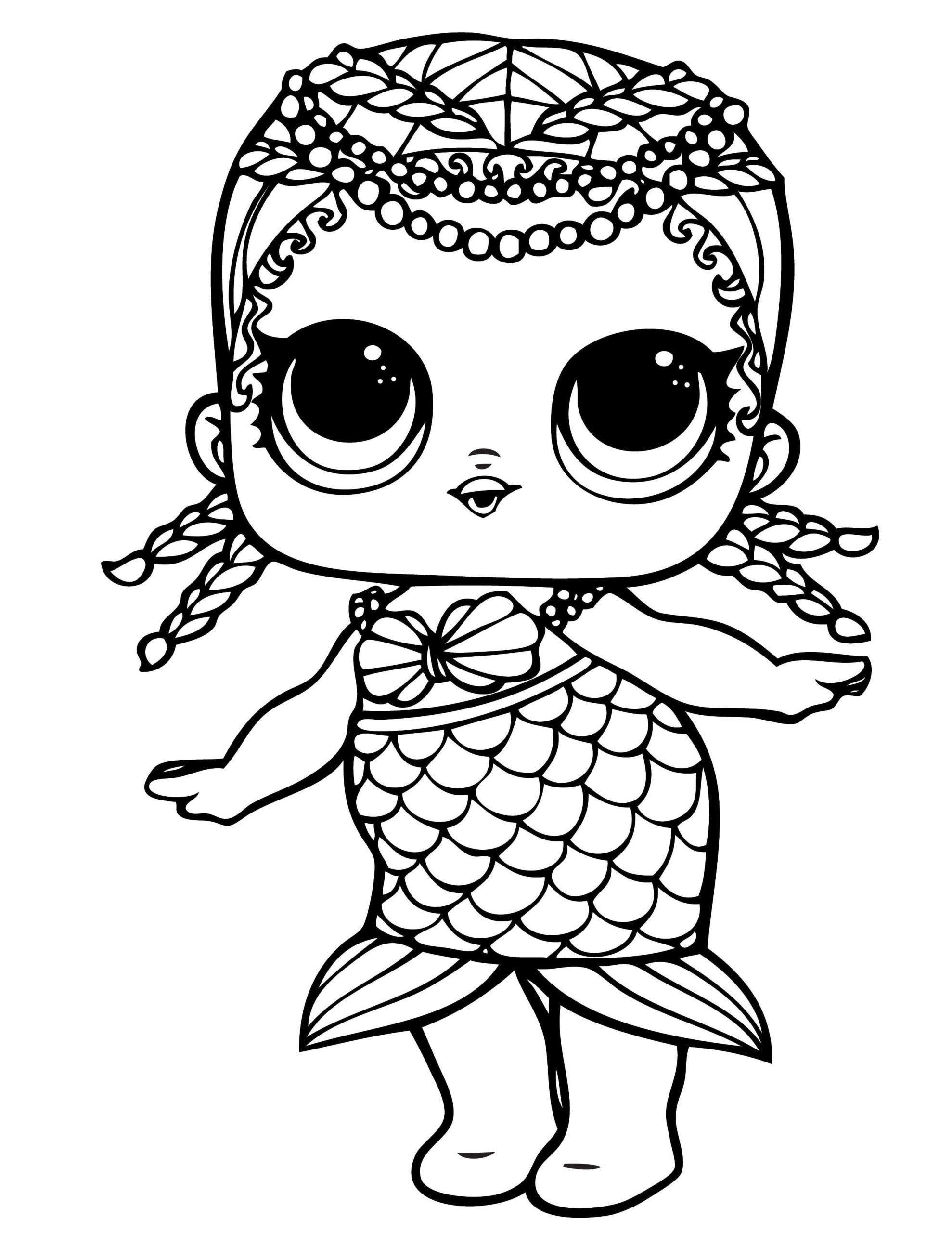 Lol Doll Coloring Pages Mermaid In 2020 Mermaid Coloring Pages Unicorn Coloring Pages Mermaid Coloring