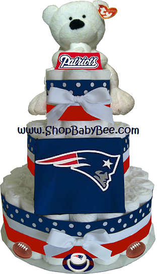 New England Patriots Diaper Cake - Baby Shower Gift | Party ...