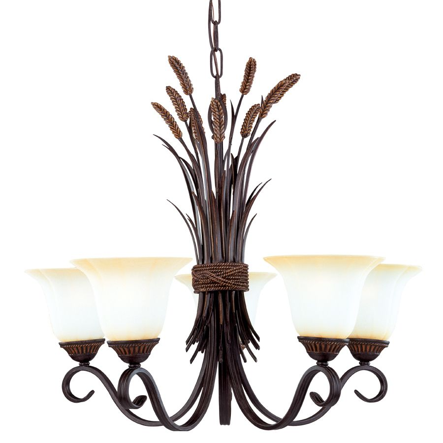 Portfolio 5 Light Bronze Chandelier At Com