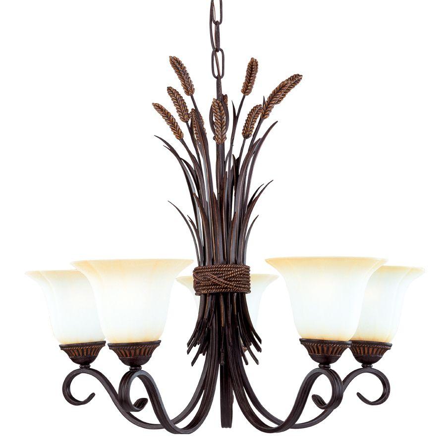 Shop Portfolio 5-Light Bronze Chandelier at Lowes.com