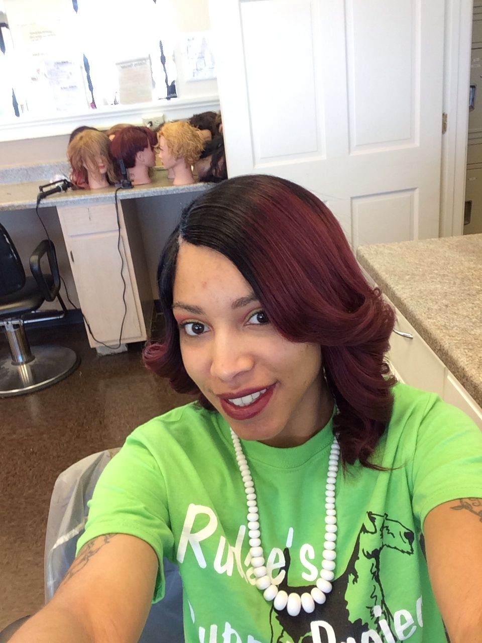 Short bob black to red ombré lovely styles by nessa pinterest