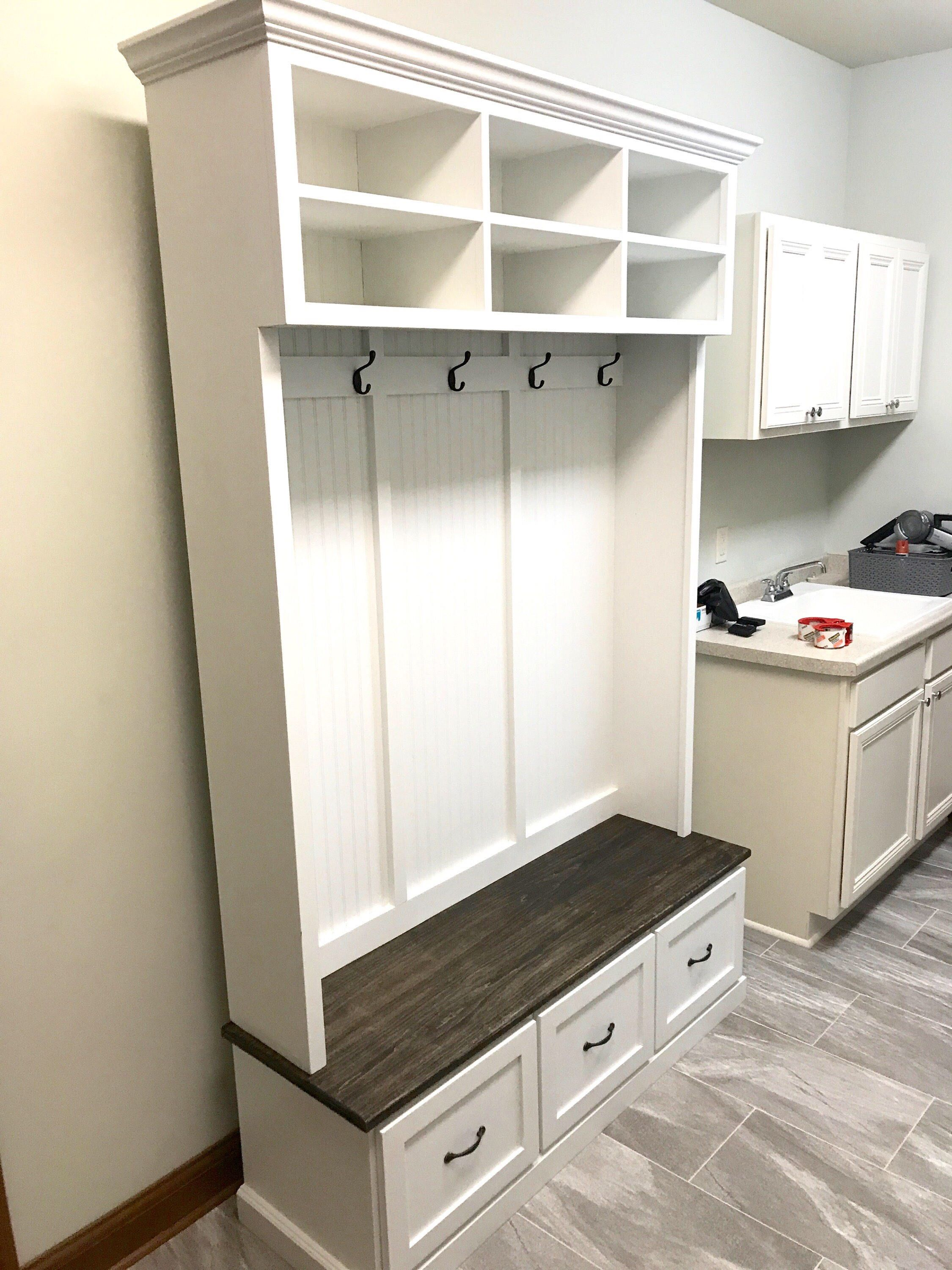 The Amana 2 Section Hall Tree With Storage Etsy Entryway Bench Storage Entryway Shoe Storage Shoe Storage Bench Entryway