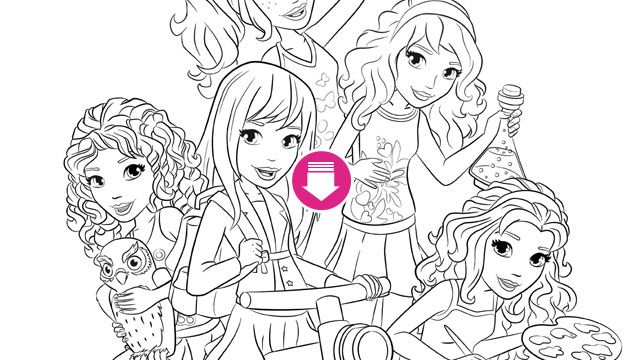 LEGO friends coloring page | sigh word kit | Pinterest