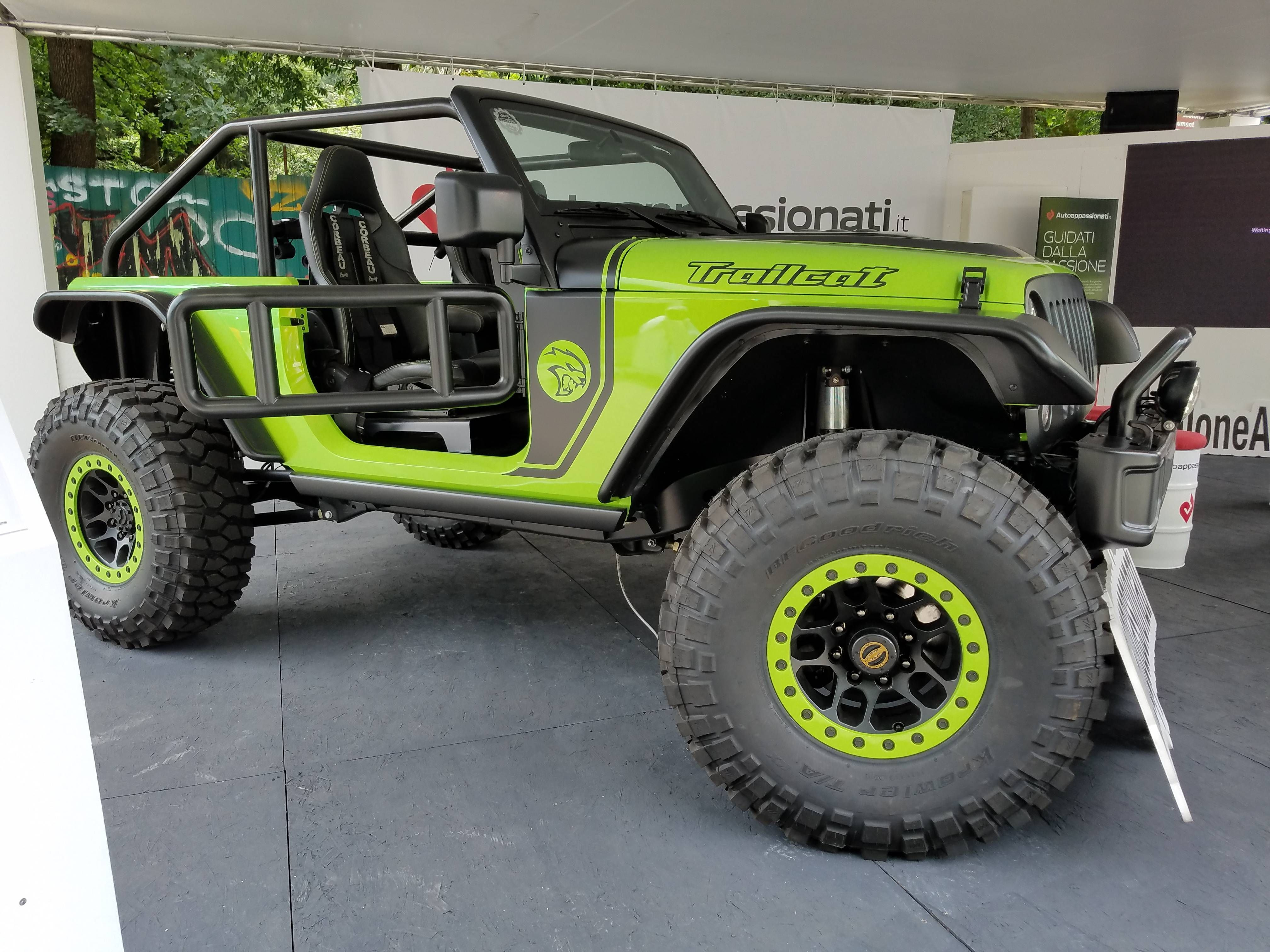 Hellcat Engined Jeep Trailcat Green Jeep Lifted Jeep