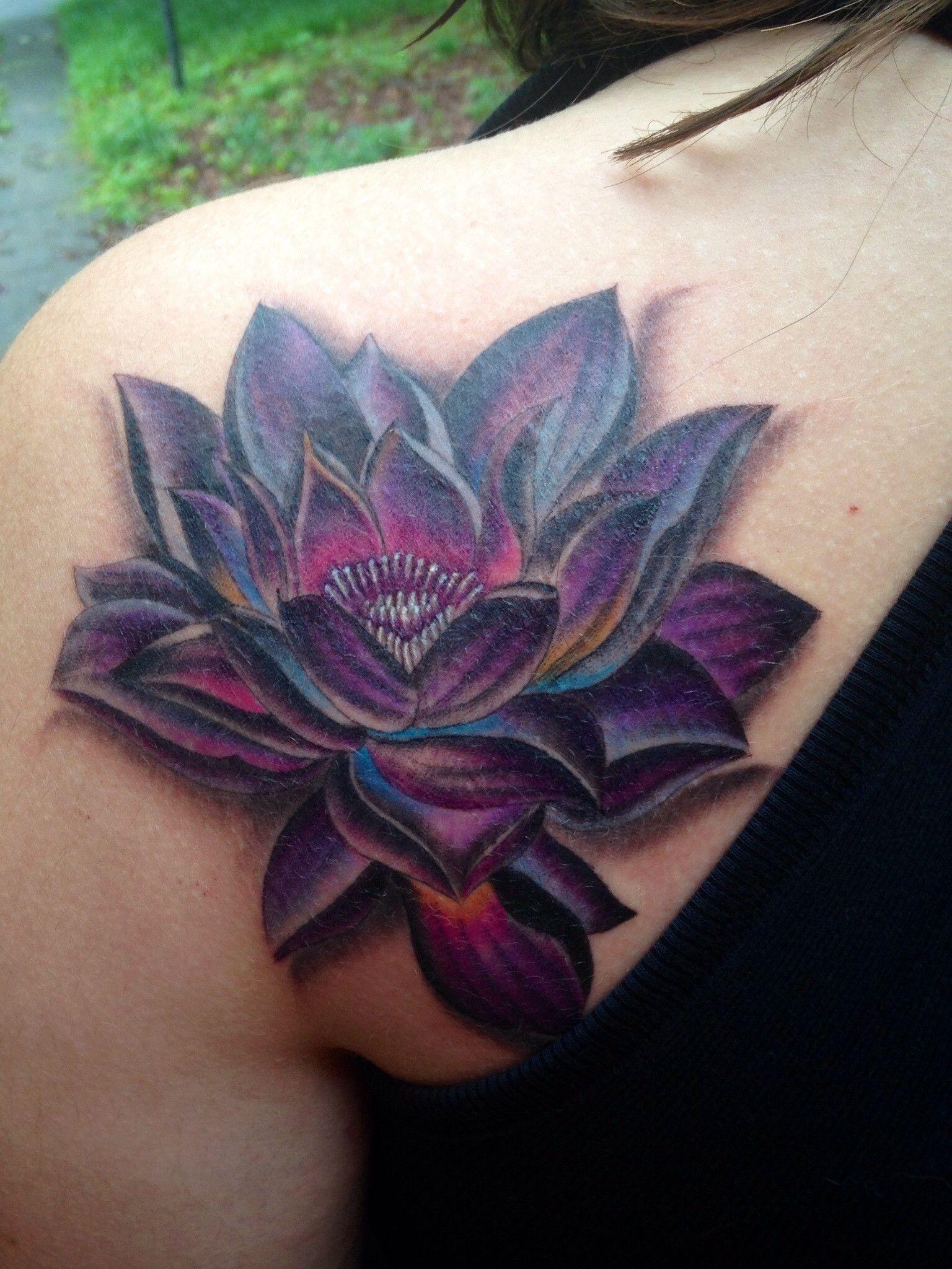Purple Lotus Flower Drawing Black Gardening Flower And Vegetables
