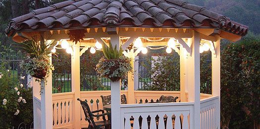 Outdoor Gazebo Lighting Custom Gazebo  Goals  Pinterest  Outdoor Spaces Gazebo Lighting And