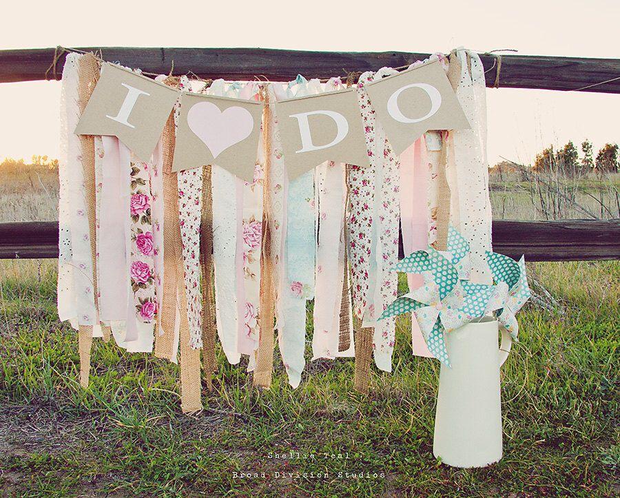 I Do Wedding Pennant Banner Shabby Boho Rustic Decor In 2020 Wedding Pennant Pennant Banners Bride To Be Banner