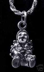 Native American indian Storyteller silver charm Pendant Sterling Silver 925 Jewelry