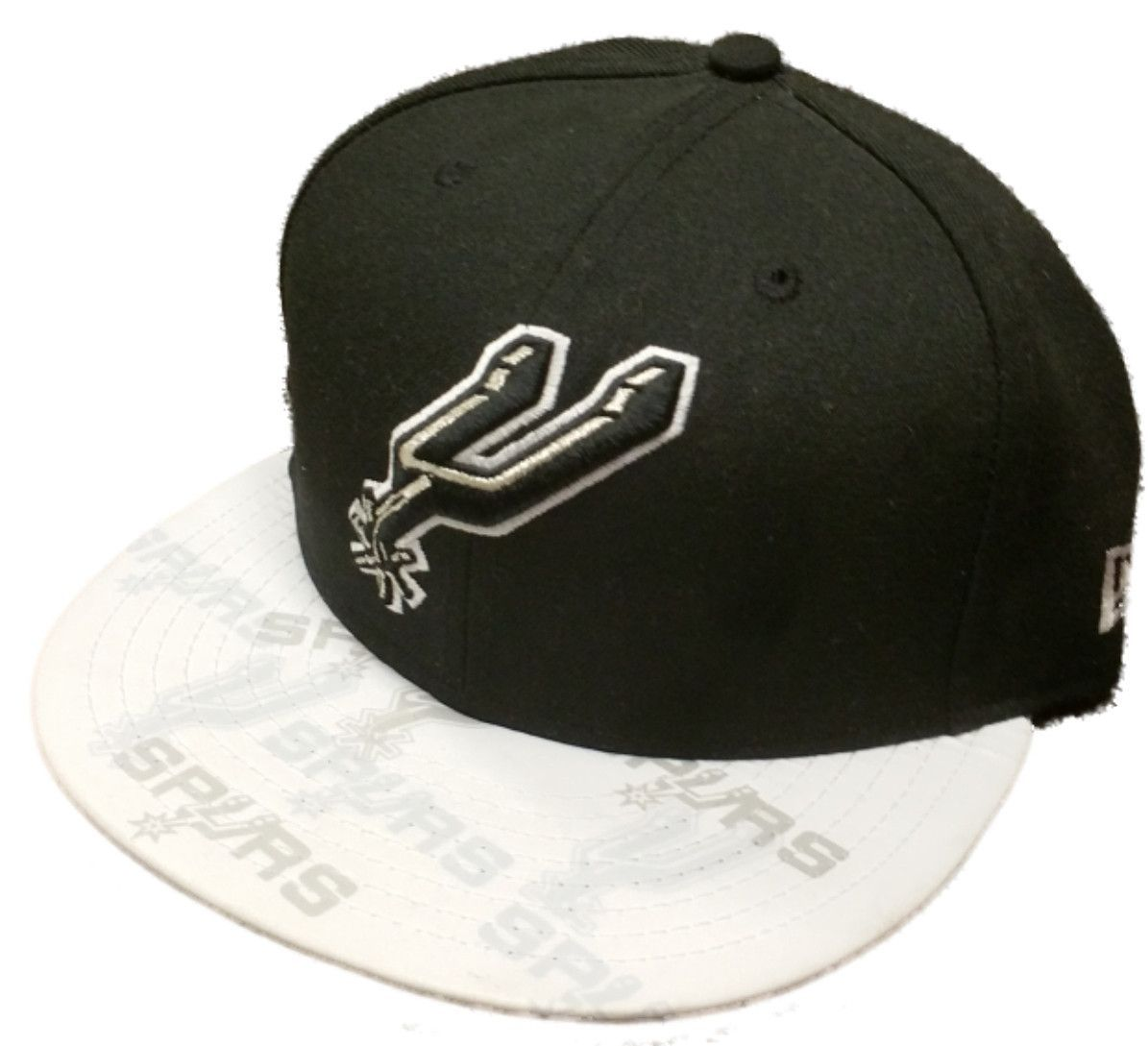 buy online 6edeb 427a7 ... get san antonio spurs new era 59fifty black white hardwood fitted hat  cap 7 1 2