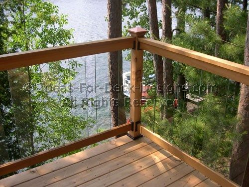Glass Deck Railing Choose Wood Or Aluminum Decks