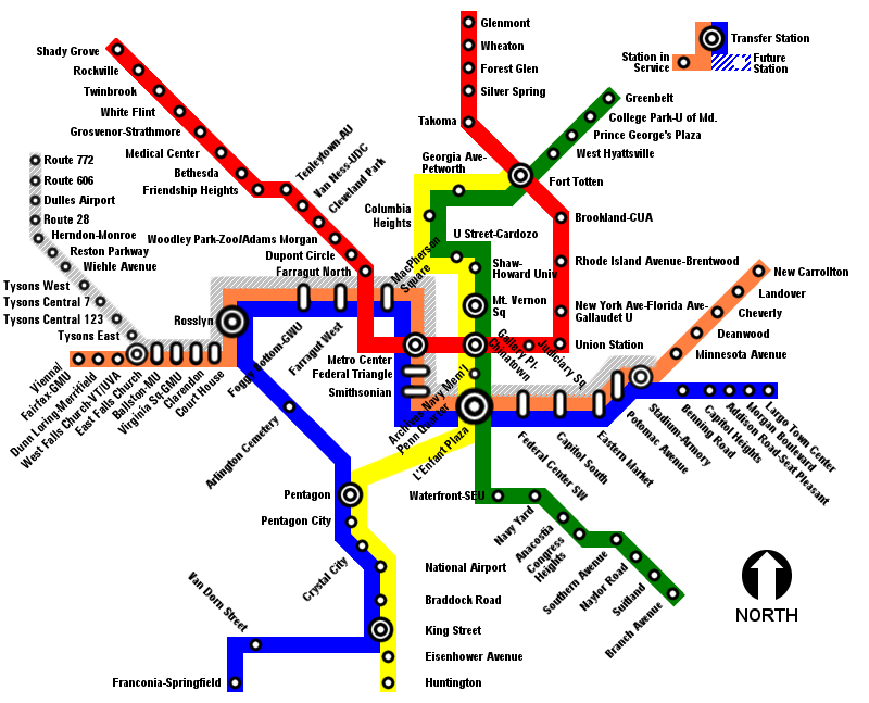 Metro Map Dc Trip Planner Washington DC Metro. WMATA_Silver_Line_proposed_map.png 800×647