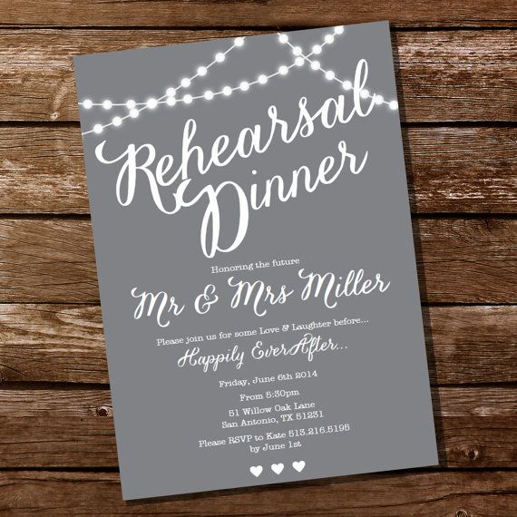 Gray Rehearsal Dinner Invitation Instant Download and Edit with – Rehearsal Party Invitations