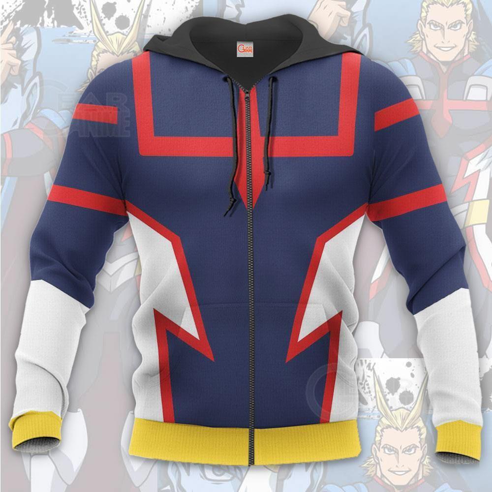 All Might Young Age My Hero Academia Toshinori Yagi Anime Costume Cosplay Hoodie Shirt Anime Costumes Hero Costumes [ 1000 x 1000 Pixel ]