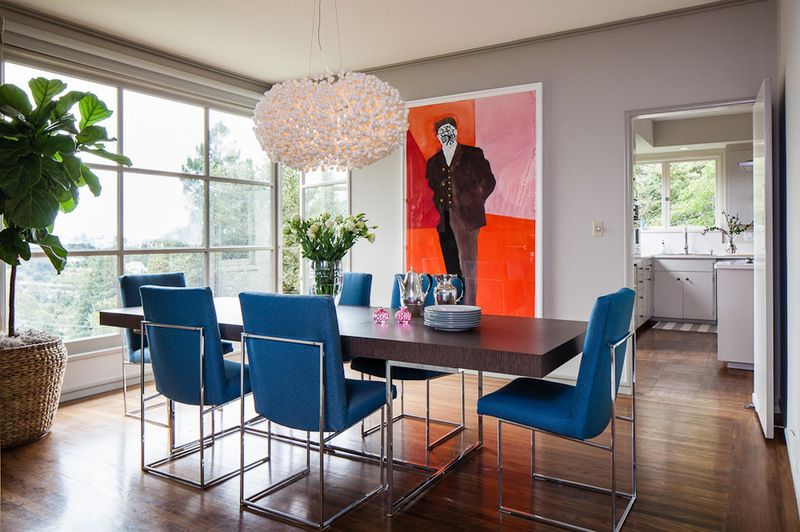 Classic Baughman Vintage Dining Chairs In This Contemporary Dining