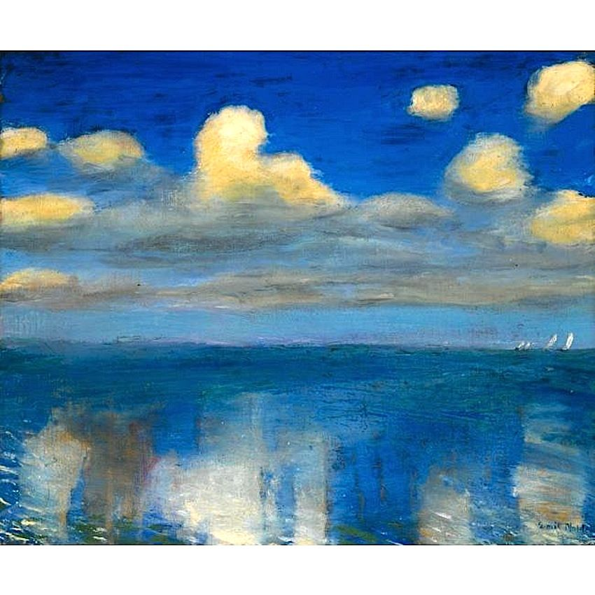 Stilles Meer - Emil Nolde 1936.  Pioneer of German Expressionism, the painter Emil Hansen changed his surname to the name of his birth place, Nolde. His paintings were removed from museums in 1935 and about thirty of them were included in the Entartete Kunst (Degenerate Art) exhibition in 1937