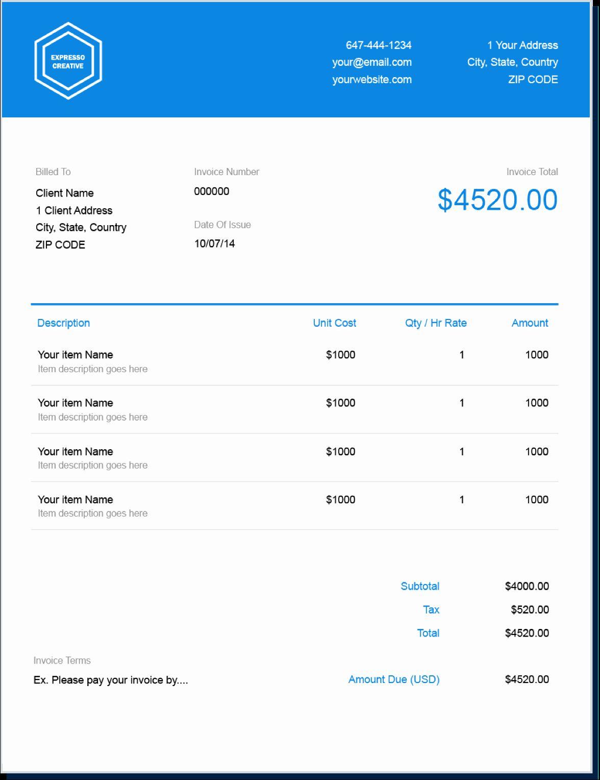 Billing Invoice Template Free Elegant Invoice Template Send In Minutes Invoice Template Photography Invoice Template Invoice Template Word