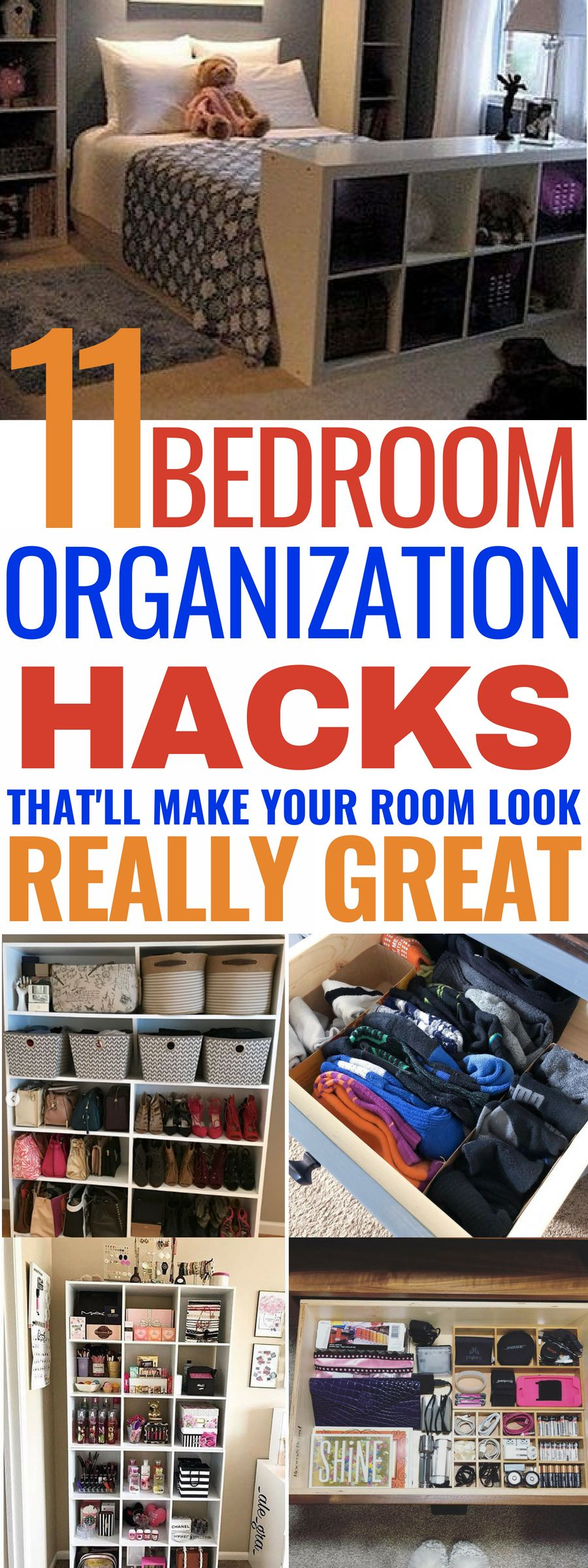 11 Genius Organization Hacks For Your Bedroom is part of Organization Bedroom Kids - This post may contain affiliate links  Please read my disclosure for more information Looking for some genius organization hacks for your bedroom  Then, these 11 ideas will be worth having a look at  They're perfect for helping you make your bedroom super organised, functional and stylish  So, if you want to …