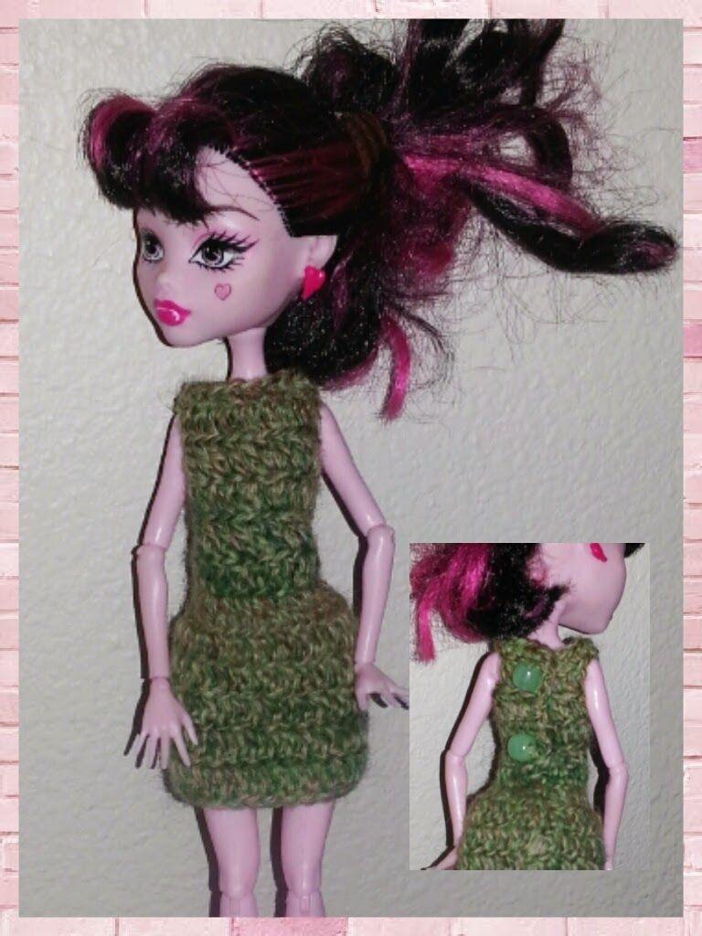 haunted verse: monster high 2 button short dress crochet pattern ...