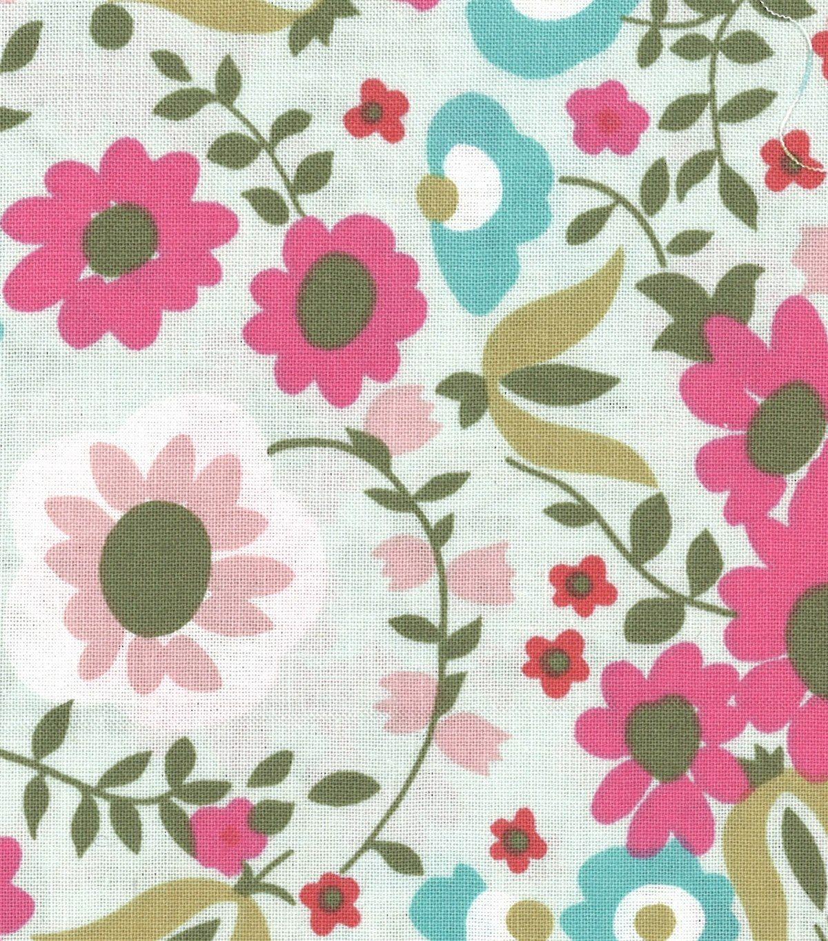 Jules u coco quilt fabric multi floraljules u coco quilt fabric
