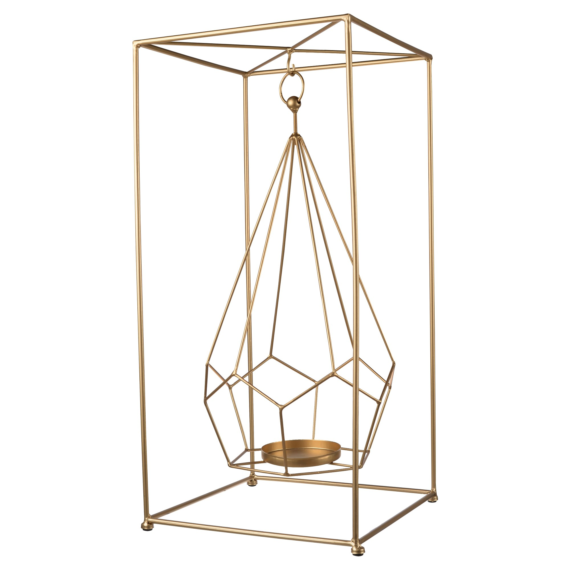 Hanging candle holder aub home bright gold products