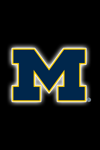 Get A Set Of 24 Officially Ncaa Licensed Michigan Wolverines Iphone Wallpapers Sized Precisel Michigan Wolverines Football Michigan Football Football Wallpaper
