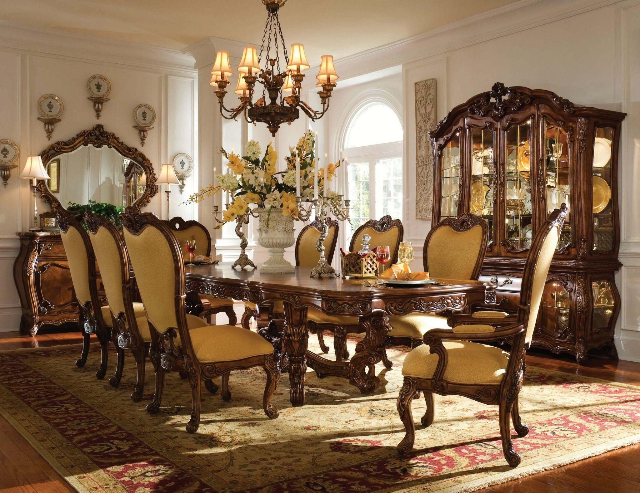 AICO Palais Royale Formal Rectangular Dining Set 71002 35   USA Furniture  Warehouse #Diningroomideas