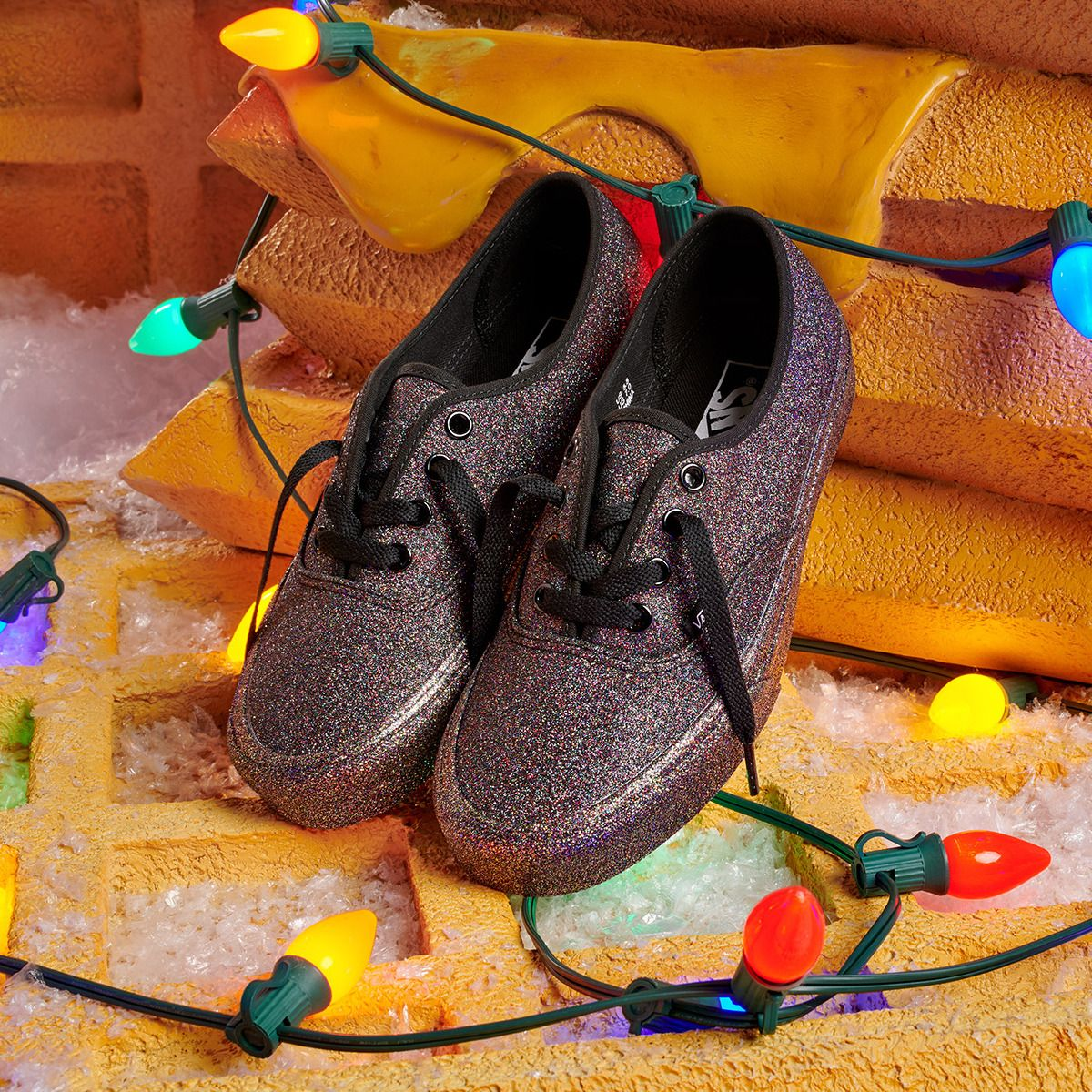 566d8d6c98cd Add some sparkle with the Rainbow Glitter Authentic. Explore the Gift Guide  at vans.com giftguide