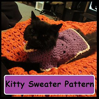 Kitty or Small Dog Crochet Sweater by Starling #dogcrochetedsweaters