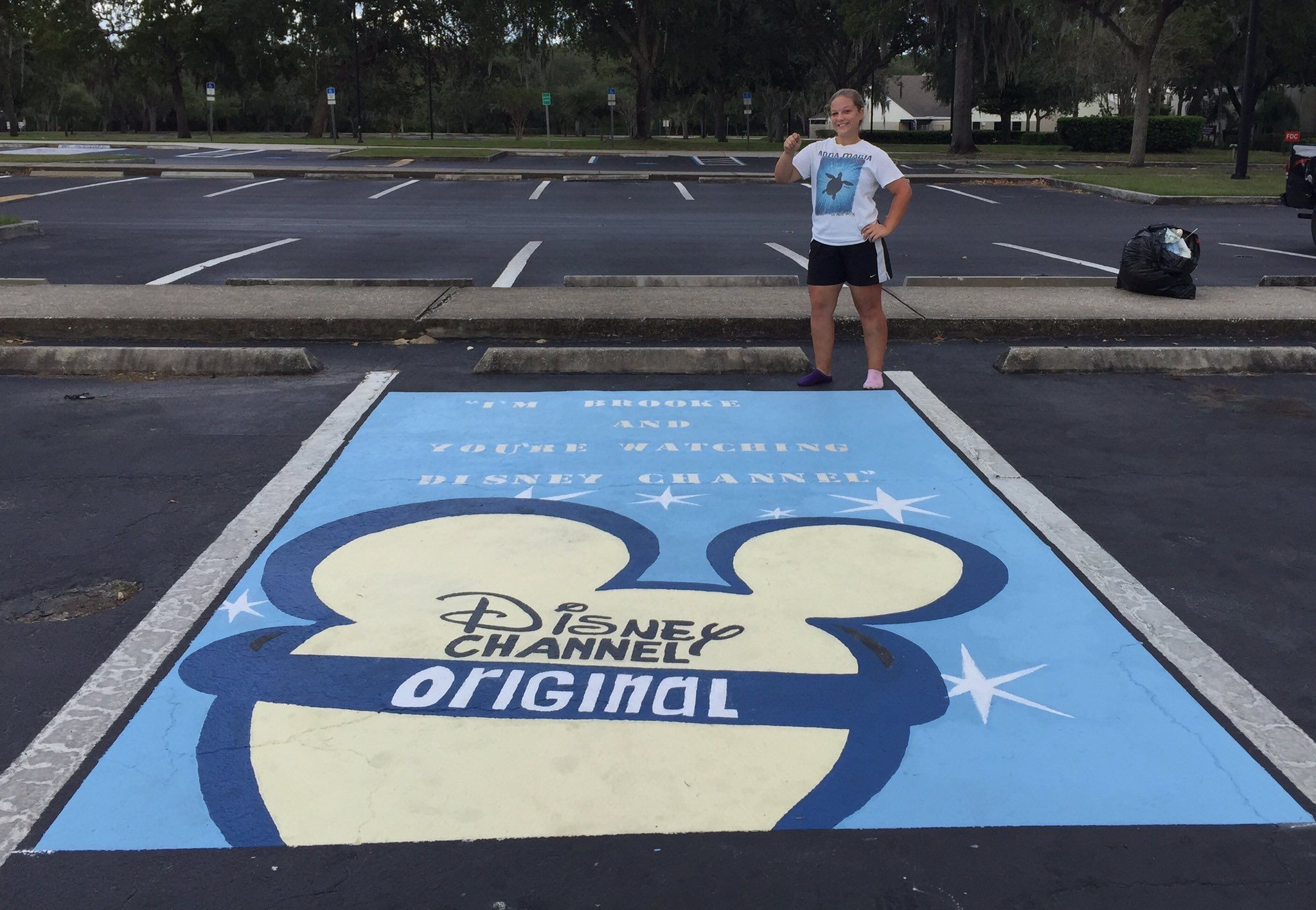 Senior Parking Spot Disneybaby Creative Parking Spot Painting