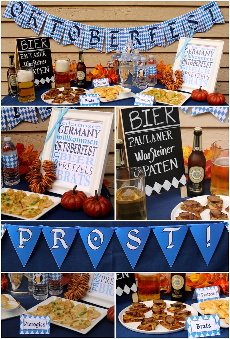 Oktoberfest Mottoparty Oktoberfest Party Decorations With Free Printables Beer Festival