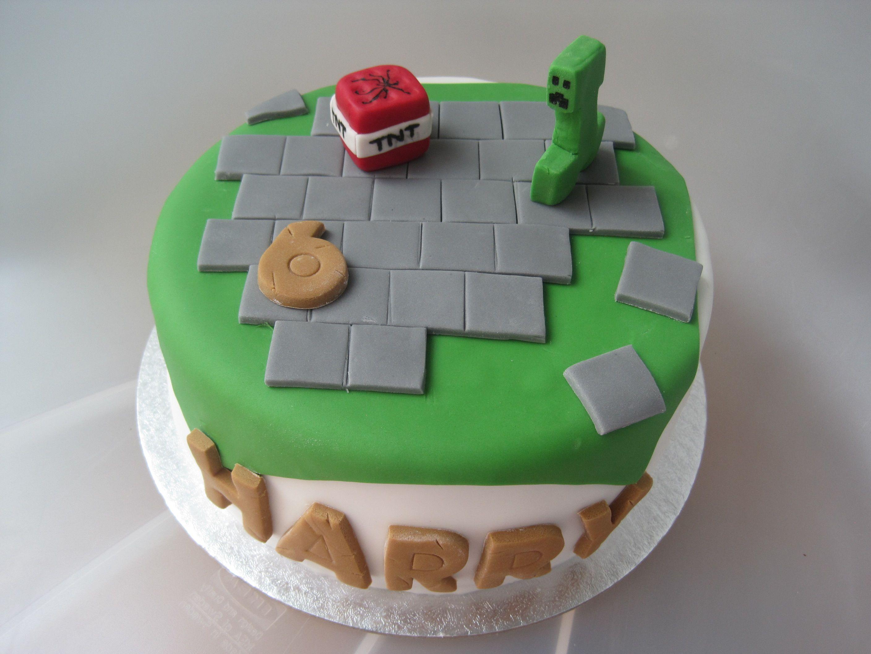 Minecraft cake Minecraft cake birthday tnt six creeper theme