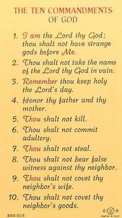 10 commandments of god # 4