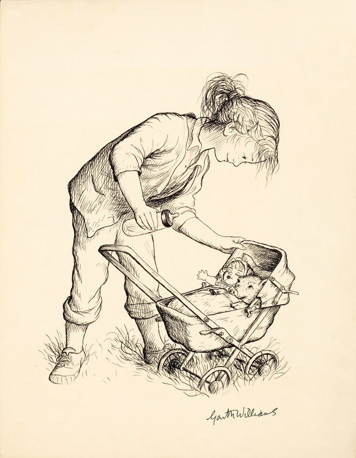 Wonderful collection of Garth Williams drawings from Charlotte\'s Web ...