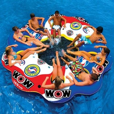 WOW World of Watersports Heavy Duty Inflatable Tables with Cup Holders and High Backrest