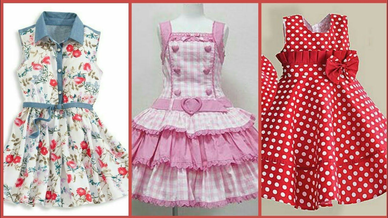 85ebfbd97771 Top 50 Cotton Frocks Designs For Kids - Simple   Stylish Kids Cotton ...